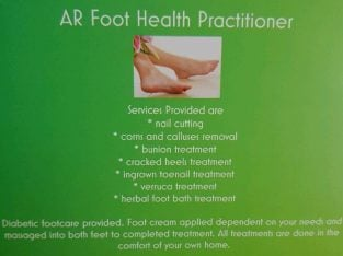 Qualified Foot health practitioner