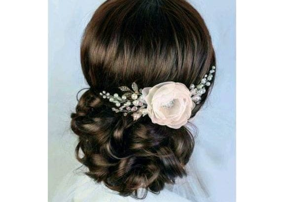 Retro bridal hair