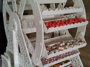 Great for Special occasions – Sweets & Ferris Wheel Cart for Hire (Sweets included) & Doughnut wall