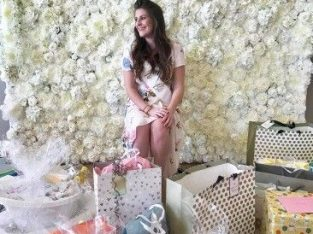 Ready to hire – Flower Back Drop & Selfie Frame