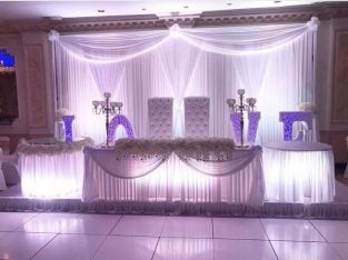 WEDDING PLANNER, PARTY DECORATOR, CHAIR COVERS FOR RENT