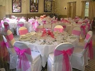Linen hire and table decorations
