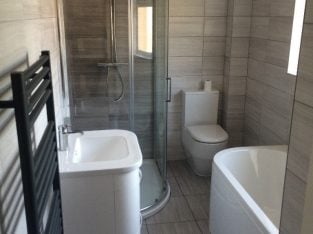 30 years hands on experience – Professional Bathroom/kitchen fitters, plastering, tiling, wet rooms