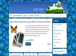 For Sale Toy Shop Website Business