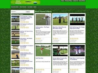 For Sale Golf Training Videos Website Business