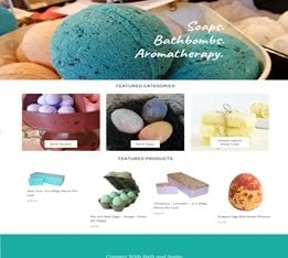 Brand new Bath Soaps And Aromatherapy eCommerce Website For Sale