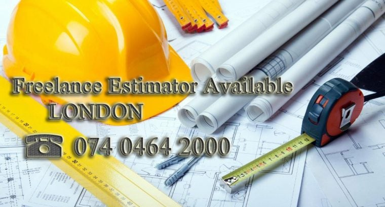 Freelance Estimator/QS available for Estimating Services, Surveying , Take-Off, everywhere by remotely.