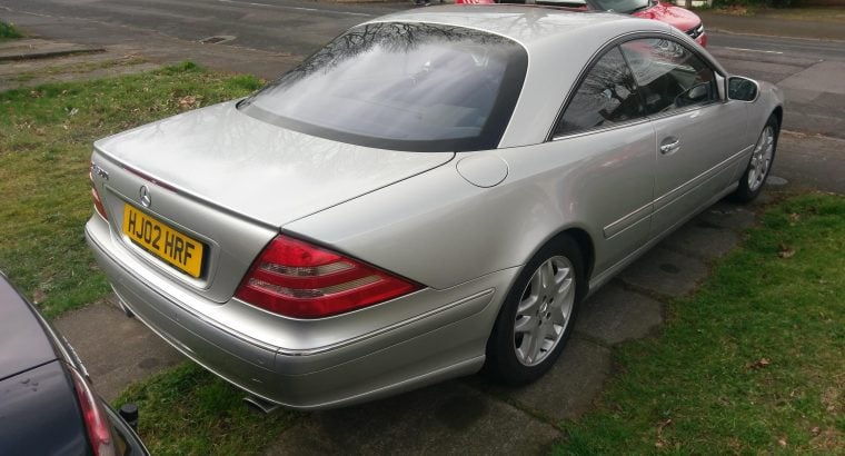 MERCEDES BENZ CL500 2002 SILVER BLACK LEATHER £10000+ SPENT IN RECENT YEARS – PROBABLY BEST AROUND