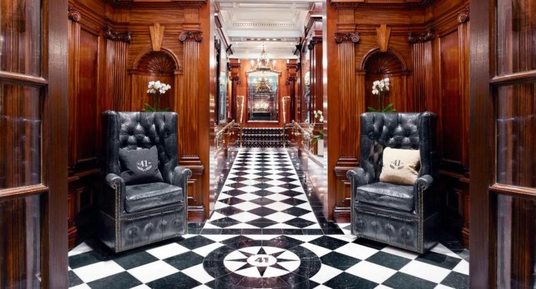 Hotel 41 – 5 star Luxury hotel in UK