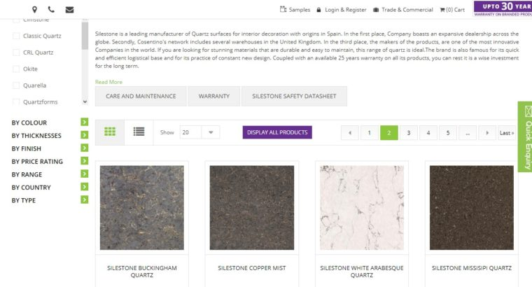 Silestone Kitchen Worktops & Flooring For Sale – M