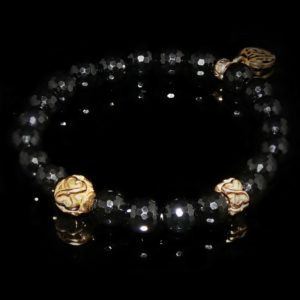 Black Onyx Bracelet / Objectiveness - Spirituality - Meditation - aura-london.co.uk