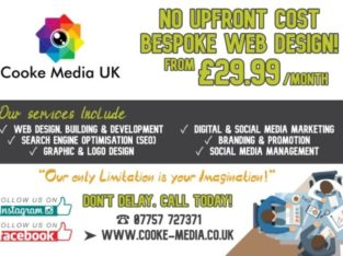 Cooke Media UK | Bespoke Web Solutions from £29.99
