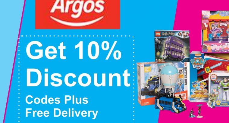 Enjoy Argos Free Delivery And £10 Off Argos Code