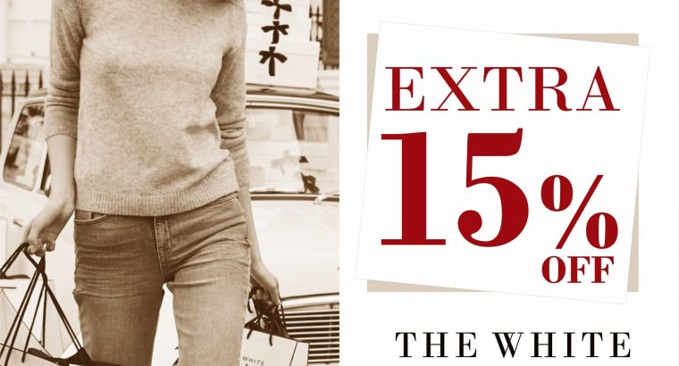 Avail 15% off on The White Company quality product