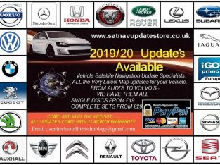 LATEST 2019/20 SATELLITE NAVIGATION MAP UPDATES