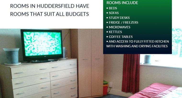 Shared rooms for students in Huddersfield