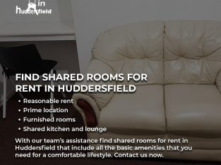 Find Shared Rooms For Rent in Huddersfield