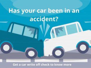 check if car has been written off