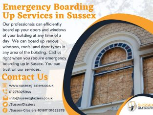 Hire Our Glaziers for Emergency Boarding up Servic